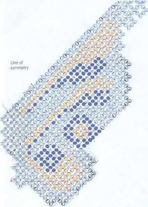 Схема колье бабочка.
