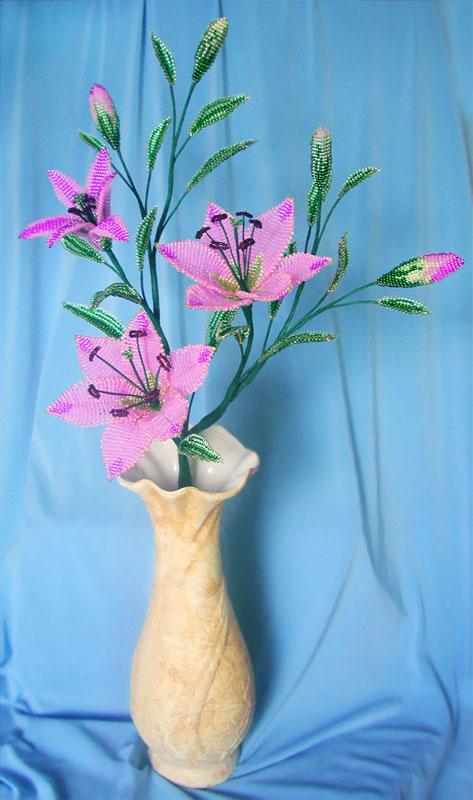 Бисероплетение лилия мастер