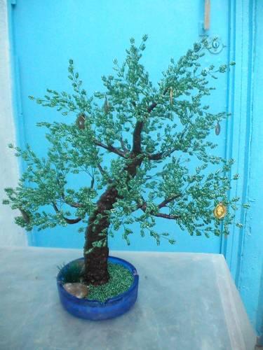 ДОРРИ.  Денежное дерево, ствол гипс +ПВА. #17.